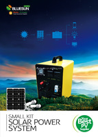 Bluesun mini projects solar power systems for home fan & lighting system