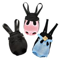 Pet Bag Dog Supplies Cat Carrier Five Holes Backpack Front Chest Backpack Pink Light Blue Black Pet Products