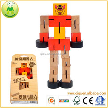 Wooden Robot Toy And DIY Toy