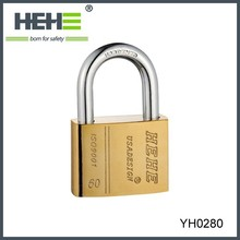 Long Shackle High Security Cheap 4 digit brass combination padlock