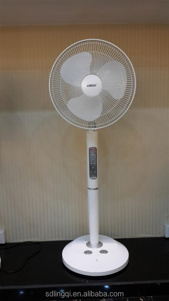 16'' AC/DC rechargeable stand fan with 2 BATTERY