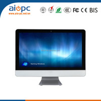 21.5 inch desktop computer cheap pc all in one touch screen pc computers