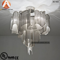 Stream Ceiling Light/Silver Chain Chandelier