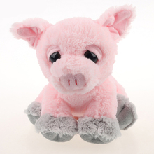 Factory supply promotion gifts plush big eyes animals stuffed pink pig 2018