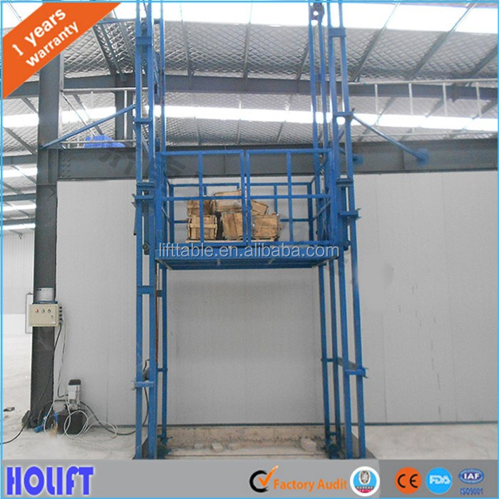 Heavy duty hydraulic cargo lift/warehouse electric freight lift elevator for sale