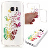 for Galaxy S7 Gold printed tpu gel cover case, for Samsung G9300 Butterfly tpu Case cover