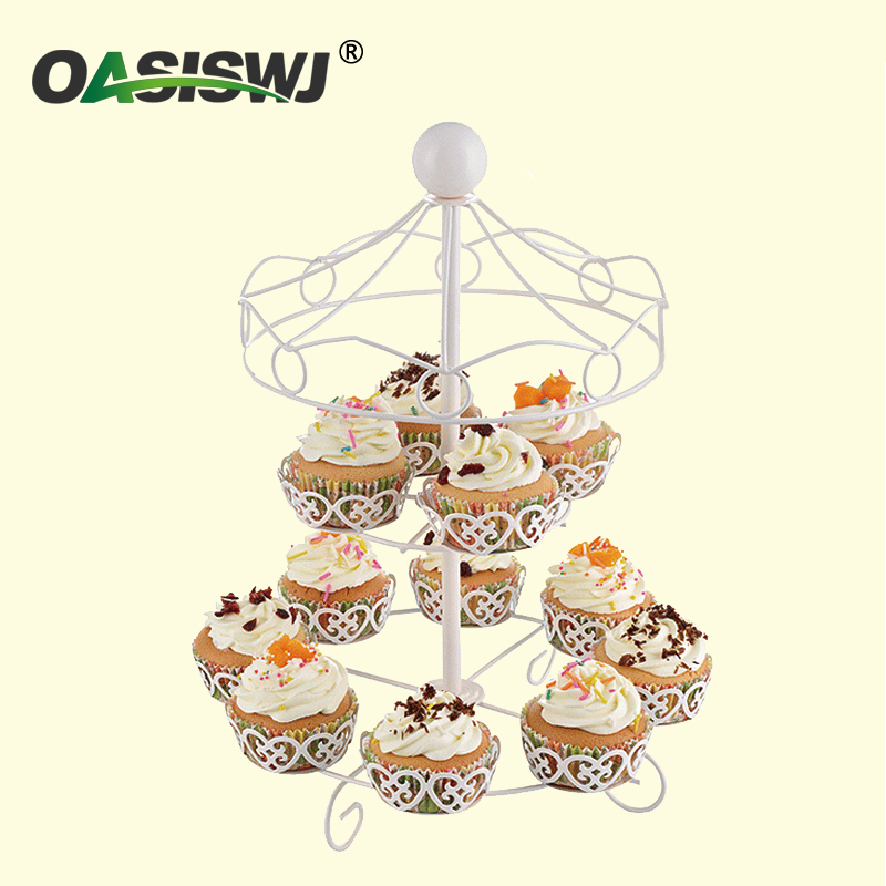New style metal powder coated cupcake stand with 11 cups