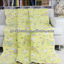 Hot Sale Cotton Cartoon Pattern Printed Baby Throw XB5025