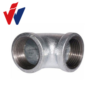 90 elbow Heavy Duty Type Hot Dipped Galv. Malleable Iron Pipe Fittings with BS threads, Banded