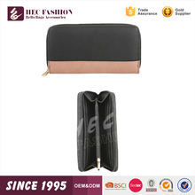 HEC Super September Purchasing 2016 New Product Black Ladies Leather Wallet Free Samples Made In China