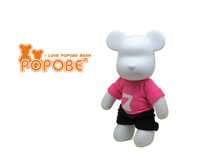 POPOBE Bear 2015 New Series Clothes PVC Bear for Room Decoration