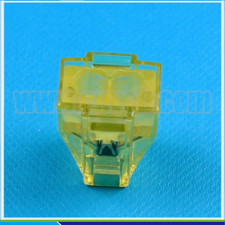 E04 Good quality 2 hole mini push-in wire clamp connector,24A female electrical wire connector