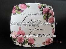 factory direct wholesale square dish plate porcelain and ceramic