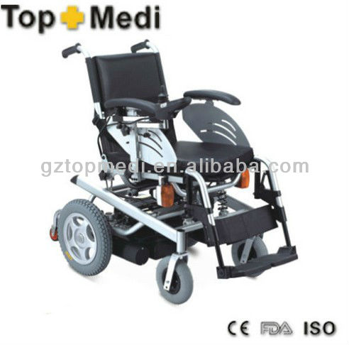 FS123 TopMedi High class Steel mobility scooter motorized wheelchair with safty lamps medical supplies philippines price