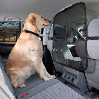 Adjustable easy install front seat net pet barrier