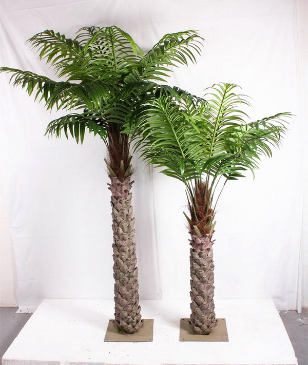 Sjh082004 indoor potted palm tree make artificial palm for Palmeras artificiales