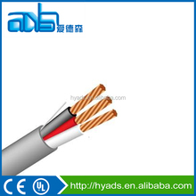 AWG32 thin multi copper conductor 2 core PV cable and CCA zinking insulated chlorinated polyethlene video cable