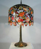 flower imitation tiffany table lamps for bedroom