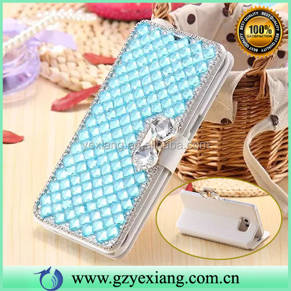 Wallet Stand Crystal Diamond Glitter Case For Samsung Galaxy S4 Mini I9190 Leather Case