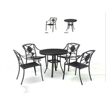 2018 fashion Outdoor garden furniture aluminium alloy plastic wood second hand garden furniture