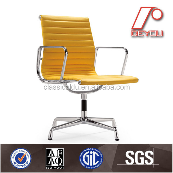 EA108 Modern fabric ribbed chair replica office emes chair with glides