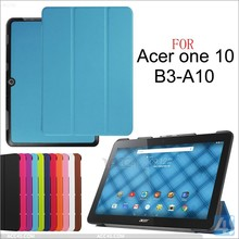 For ACER Iconia one 10 B3 A10 slim leather case, for ACER Iconia one 10 B3 smart case cover