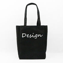 Shenzhen factory customized logo printing black canvas tote bag promotion canvas bag
