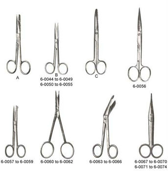 Operating scissors straight curved Dissecting scissors Lister bandage Mayo ent eye surgical instruments scissors dental supplies
