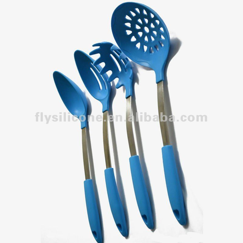 6pcs Whole Silicone Kitchen Tools Set With Comfortable Handle
