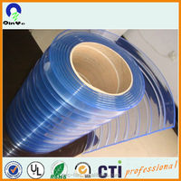 clear PVC film for clear soft pvc stripe door curtain