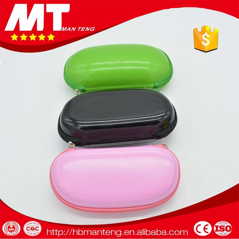 MANTENG color pu leather covered eva reading glasses case , MT-EZ8036