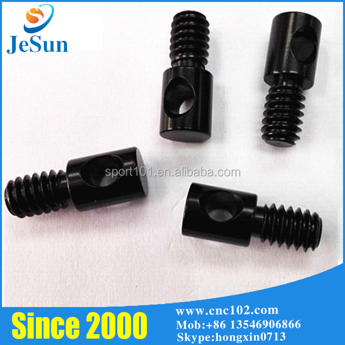 Black Anodized Aluminum Slotted Philips Pan Head Screws With Fasteners