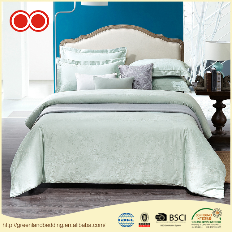 High Quality King Size Jacquard Pure Cotton Fabric Washable Sheets Bed Bedding Set