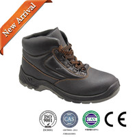 Safety boots with steel toe cap black knight safety work boots made in china