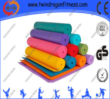 PVC Yoga Mat, Workout Exercise Floor Mat with Free Yoga Mat Bag, Choose 4mm and 6mm, Great for Camping Pilates and Gymnastics