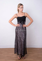 EL-8624 Chic Sleeveless A-line Lace Evening Dress