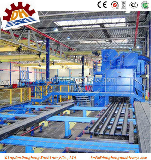 CE roller steel plate roller conveyor shot blast and painting machine