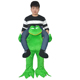 Halloween Funny Animal Mascot Costume Carry On Green Frog Costume