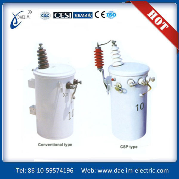 Safety 25kva single phase pole mounted distribution transformers