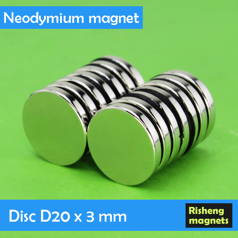 Strong pull force Neodymium magnetic disc D20x3mm magnet rod