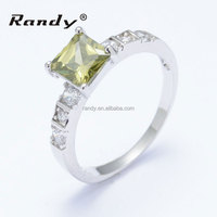 Gorgeous Yellow Cubic Zirconia Bands Rings Ladies Jewelry Finger Ring