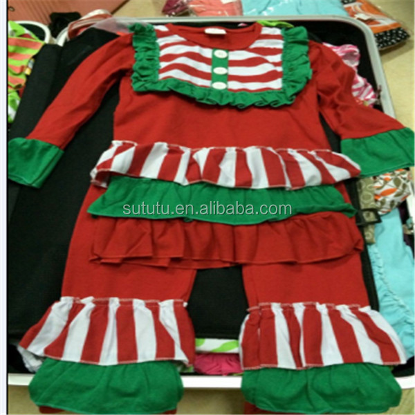 2014 Fashion Baby Girl Christmas Outfit Fancy Western Girls