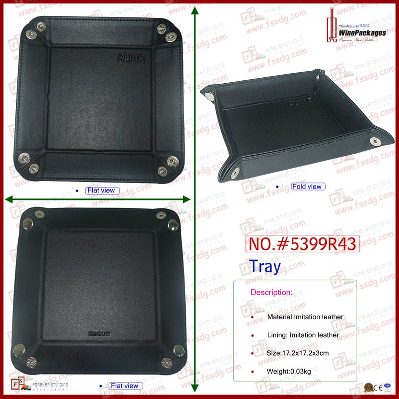 Leather Product , Packing Tray ,Oat Chocolate