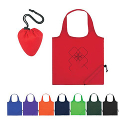 Eco-friendly 190T foldable T-shirt polyester tote nylon shopping bag with logos