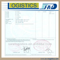 Export and import document service by reliable forwarding agent