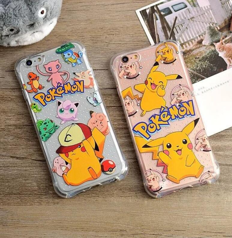 New stylish cartoon design cover case for apple iPhone 6/6 Plus,For pokemon design soft case