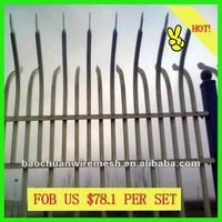 Electrostatic spray square post decorative garden using fence