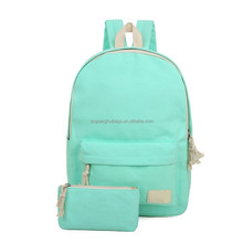 Solid Color Women Backpack High Quality Cute Canvas Backpack Female School Bags For Teenagers Mochila