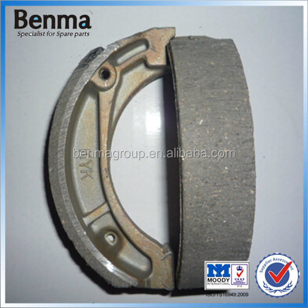 CD70 motorcycle brake shoe, GN125 brake shoe for motorcycle rear wheel in soft brake lining