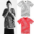 Custom west cooast paisley printting designs mens high streetwear t shirts